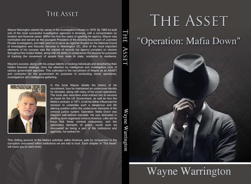 """The life story of Consumer Advocate Wayne Warrington is captured in his book, ,The Asset """"Operation: Mafia Down"""""""